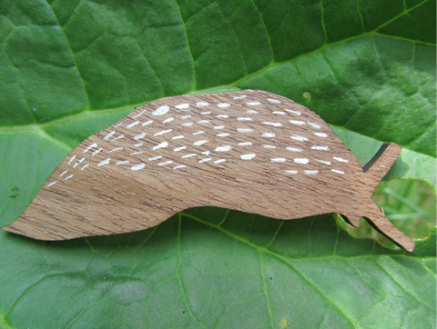 Slug brooch by Katrine Brosnan