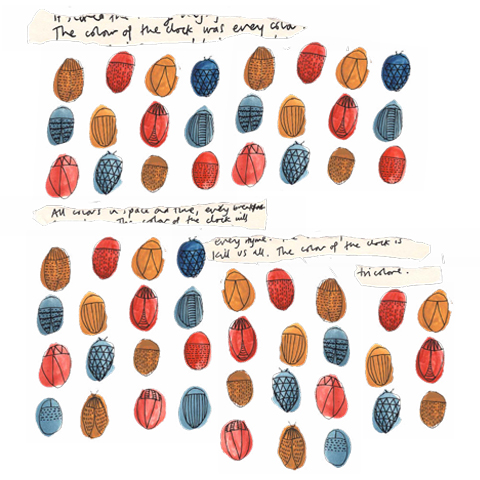 Tricolore booklet page by Katrine Brosnan