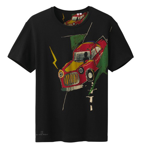 Uniqlo Jean-Michel Basquiat tshirt car