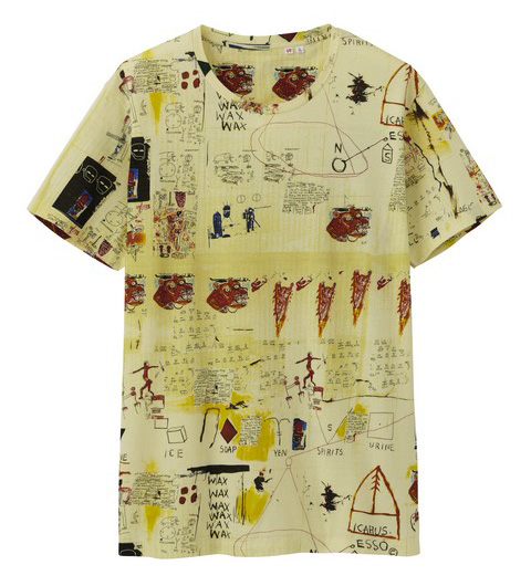 Uniqlo Jean-Michel Basquiat tshirt cream