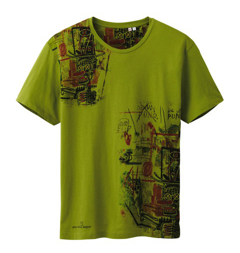 Uniqlo Jean-Michel Basquiat tshirt green