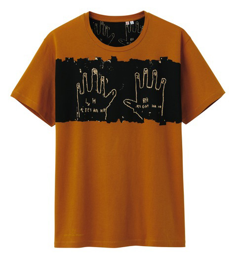 Uniqlo Jean-Michel Basquiat tshirt orange