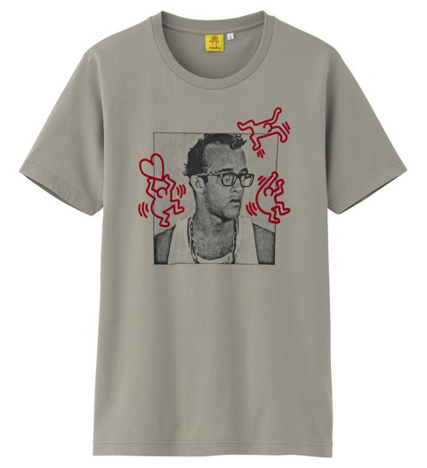 Uniqlo Keith Haring tshirt beige