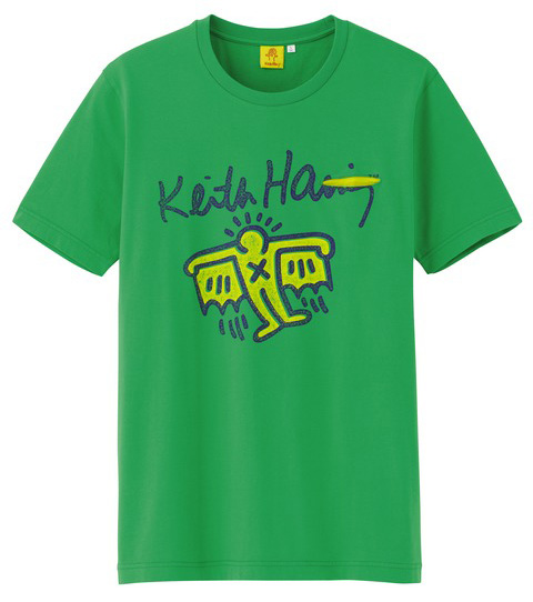 Uniqlo Keith Haring tshirt green
