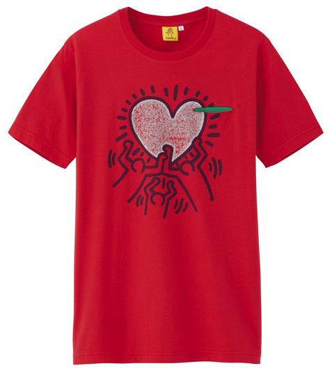 Uniqlo Keith Haring tshirt red