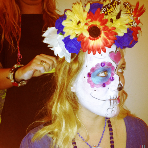 Pinned it Made it pinterest party 2013-Day of the Dead make up