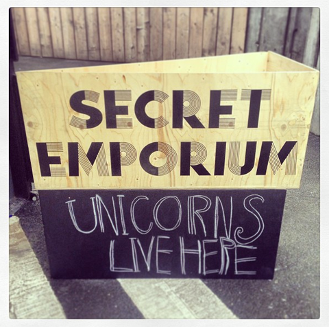 Secret Emporium sign