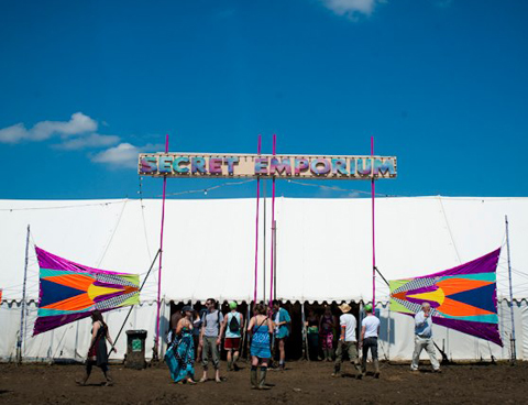 Secret Emporium tent at festival