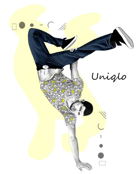 Uniqlo by Rebecca Higgins of Rebecca May Illustration