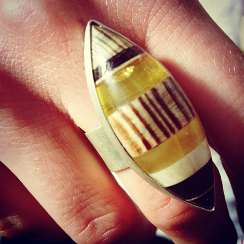 Amberwood jewellery by Marta Wlodarska ring