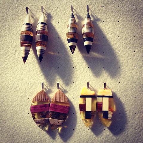 Amberwood jewellery by Marta Wlodarska