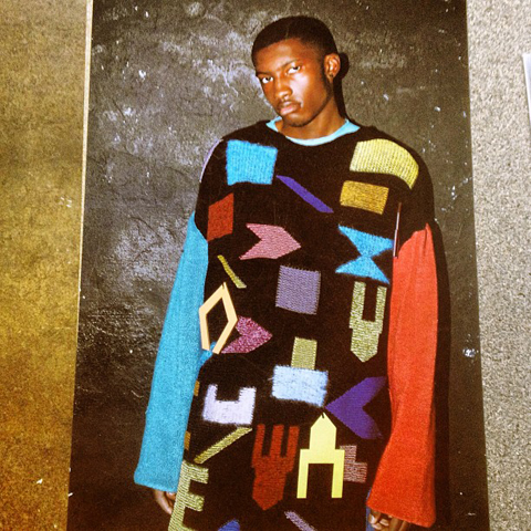 Colourful intarsia knitwear by abbie ridler