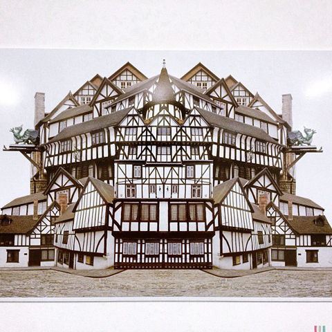 Graham Carter's Castles of the Architects series- collage of Tudor buildings