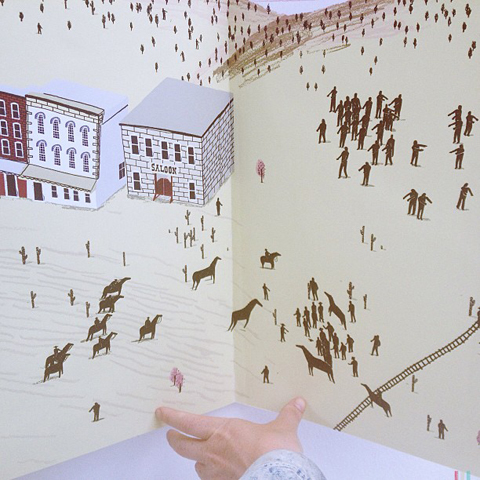 Large scale book of buildings & figures by Alex Foster