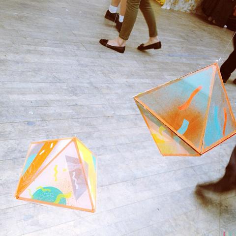 Cosmic Omelette mobile by Saara Karppinen