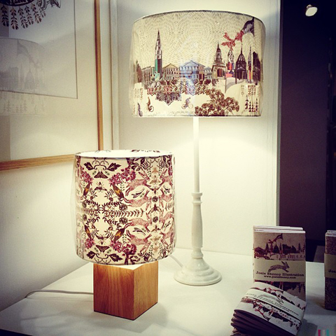 Decorative lampshades by Josie Shenoy in #oneyearon