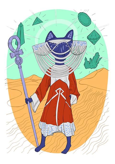 Sarah Buchanan 'Cat Goddess in Dress' by Kathryn Corlett