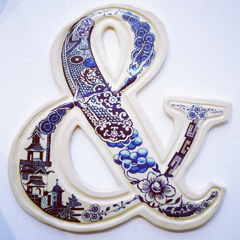 Pottery ampersand by Helen Player at staffordshire uni