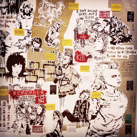 Punk wall collage by William Burr