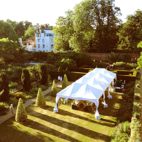 The Art of Dining at Fenton House garden marquee