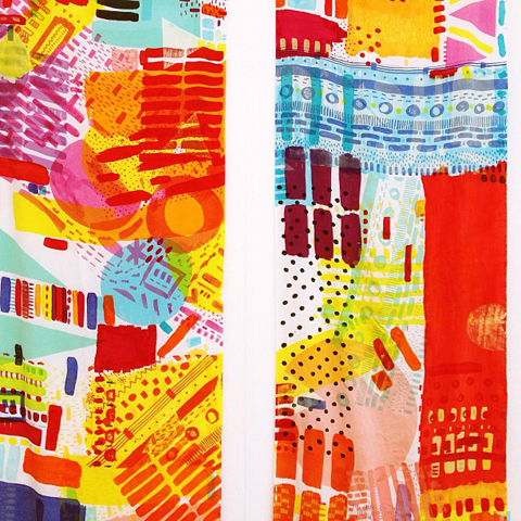 abstract print by Katie Whitton at new designers