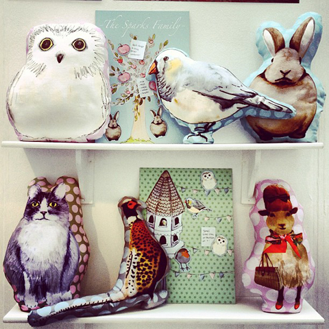 animal cushions for kids by Verity Sparks