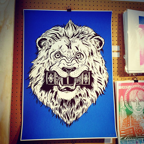 lion poster image by Sam Marot