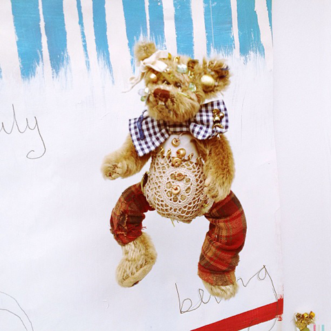upcycled teddy bear by Ginni Jones Mansueto