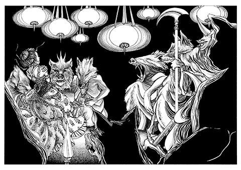 Brahma-Dreaming-illustration-by-Daniela-Jaglenka-Terrazzini Rama & Sita