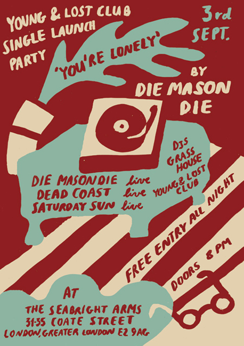 Die Mason Die launch party invite