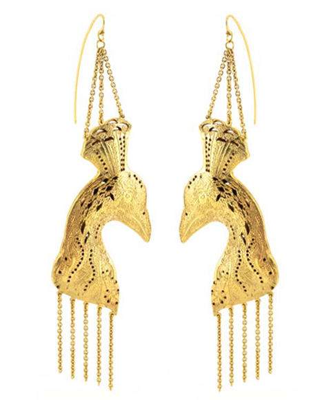 Oriental Peacock Earrings Annabelle Lucilla Hastings