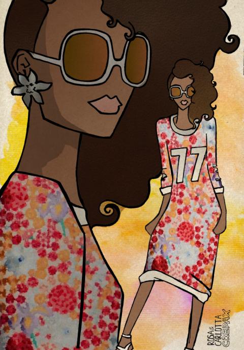 Holly Fulton Spring Summer 14 Illustration by Rosa and Carlotta Crepax, Illustrated Moodboard