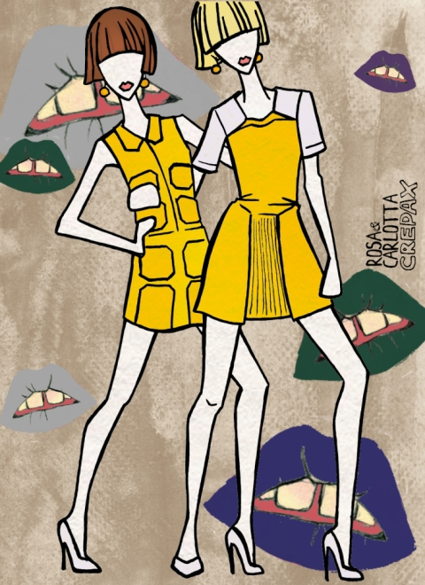 Original illustration inspired by Krystof Strozyna's Spring/Summer 2014 at London Fashion week