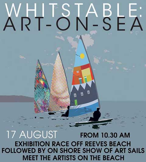 White Horses Whitstable art sails