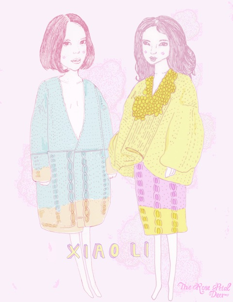 Xiao Li MA Show Fashion Illustration by Rose Petal Deer (Emily Katherine Reader)