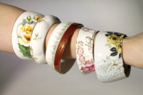 stay gold mary rose tea cup bracelets