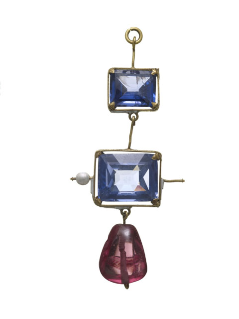 Sapphire and spinel pendant