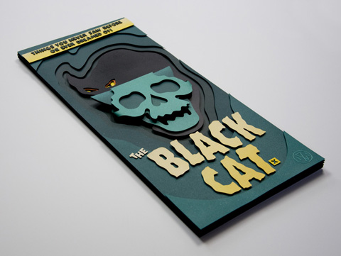 Eelus Ink_d Black_Cat_poster papercut