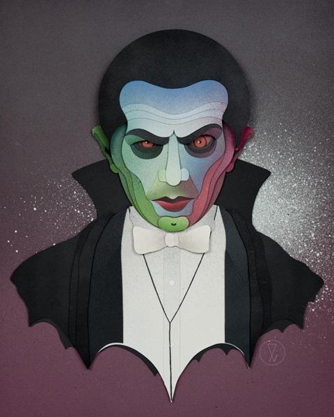 Eelus Ink_d Dracula_papercut