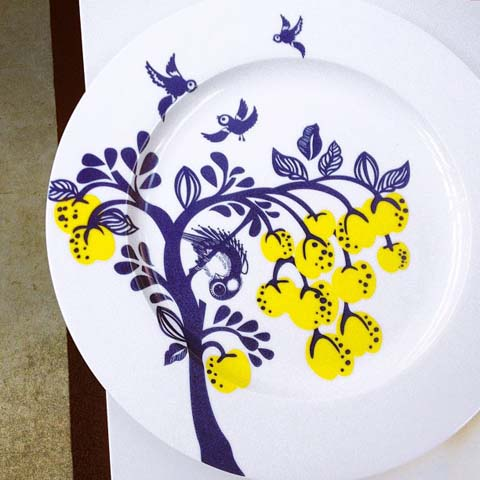 plate by Louise Wilkinson