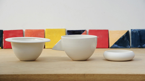 Up Side Up three bowls prototypes
