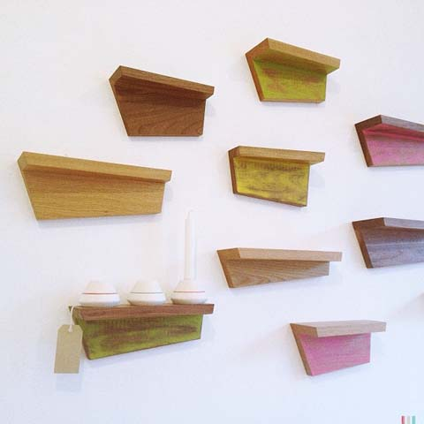Wood shelves by Greg Cox