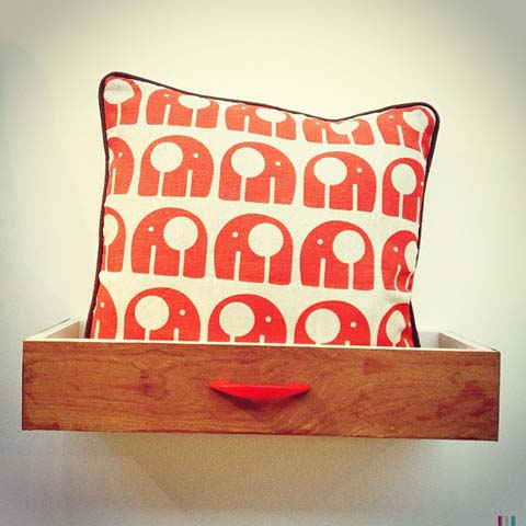 elephant print cushion Rachel powell