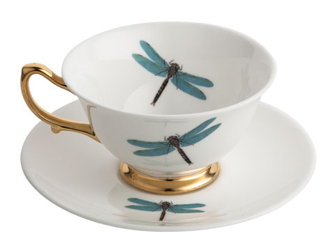 Melody Rose - Dragonflies Bone China Teacup