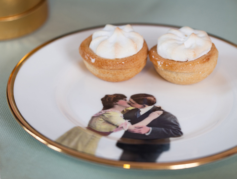 Melody Rose Kissing Couple Side plate crop