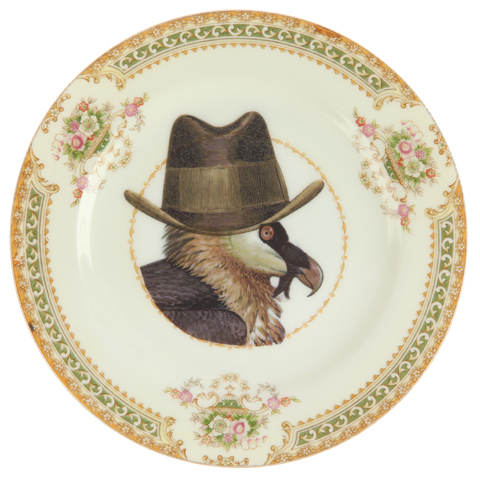 Melody Rose -Upcycled Vintage Vulture Side Plate