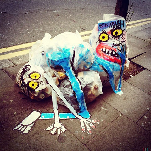 New #artistrash monster on Hanbury Street