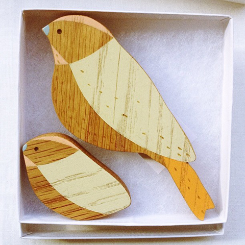 Wooden wall birds by anna wiscombe