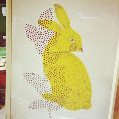 Akiuc Design- bunny print
