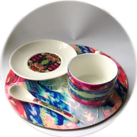 Dionne Sylvester Tropical Heat coffee cup set